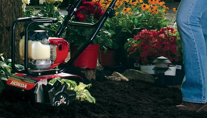 Honda garden tillers and mid-tine tillers are perfect for small and medium gardening jobs.