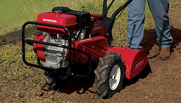 Heavy-duty rear-tine tillers are best for extra large gardens or breaking up hard ground.