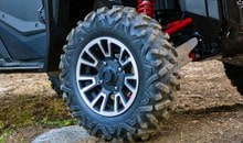 The Pioneer 1000-5 EPS LE comes standard with large 27-inch tires on 12-inch aluminum wheels for better ride comfort, improved ground clearance and superior traction.