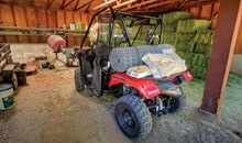 Large, flat cargo area with ATV-style rack offers numerous tie-down points for maximum load versatility and can carry 203 kg (450 lbs.) of gear.