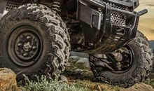The Pioneer 1000 EPS comes standard with large 27-inch tires on 12-inch steel rims for better ride comfort, improved ground clearance and superior traction.