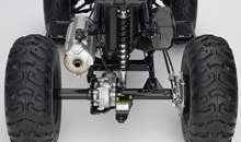 Enclosed-axle swingarm offers optimized stiffness for improved toughness and excellent handling performance.
