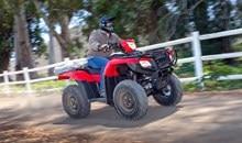 Sensiblement plus grande et plus épaisse que les sièges que l'on retrouve sur la plupart des modèles à caractère utilitaire, la selle du Rubicon demeure confortable toute la journée. La housse texturée du siège est plus fraîche durant les journées chaudes, tout en offrant une meilleure sensation de sécurité, en particulier avec des vêtements de conduite en matériel synthétique. Les poignées semi-mousse au guidon sont similaires à celles que l'on retrouve sur les motos hors-route Honda. Plus confortables, elles maintiennent une prise sécuritaire dans les conditions humides ou boueuses.