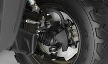 Les roulements de direction scellés améliorent la performance de la direction et sa durabilité. Les soufflets des joints de cardan en plastique sont durables et résistent aux déchirures.