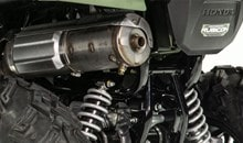A sub-chamber in the air cleaner reduces resonant noise for quieter operation. Stainless-steel exhaust system includes a USDA-qualified spark arrester/muffler designed for quiet operation without servicing for long-lasting performance.